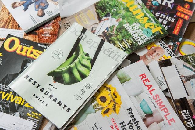 雑誌や広告